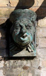 Benedict Spinola gargoyle at Quayside in Cambridge