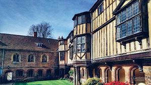 Cloister court, Queen's college, Cambridge