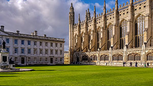 Inside the grounds of King's college, Cambridge