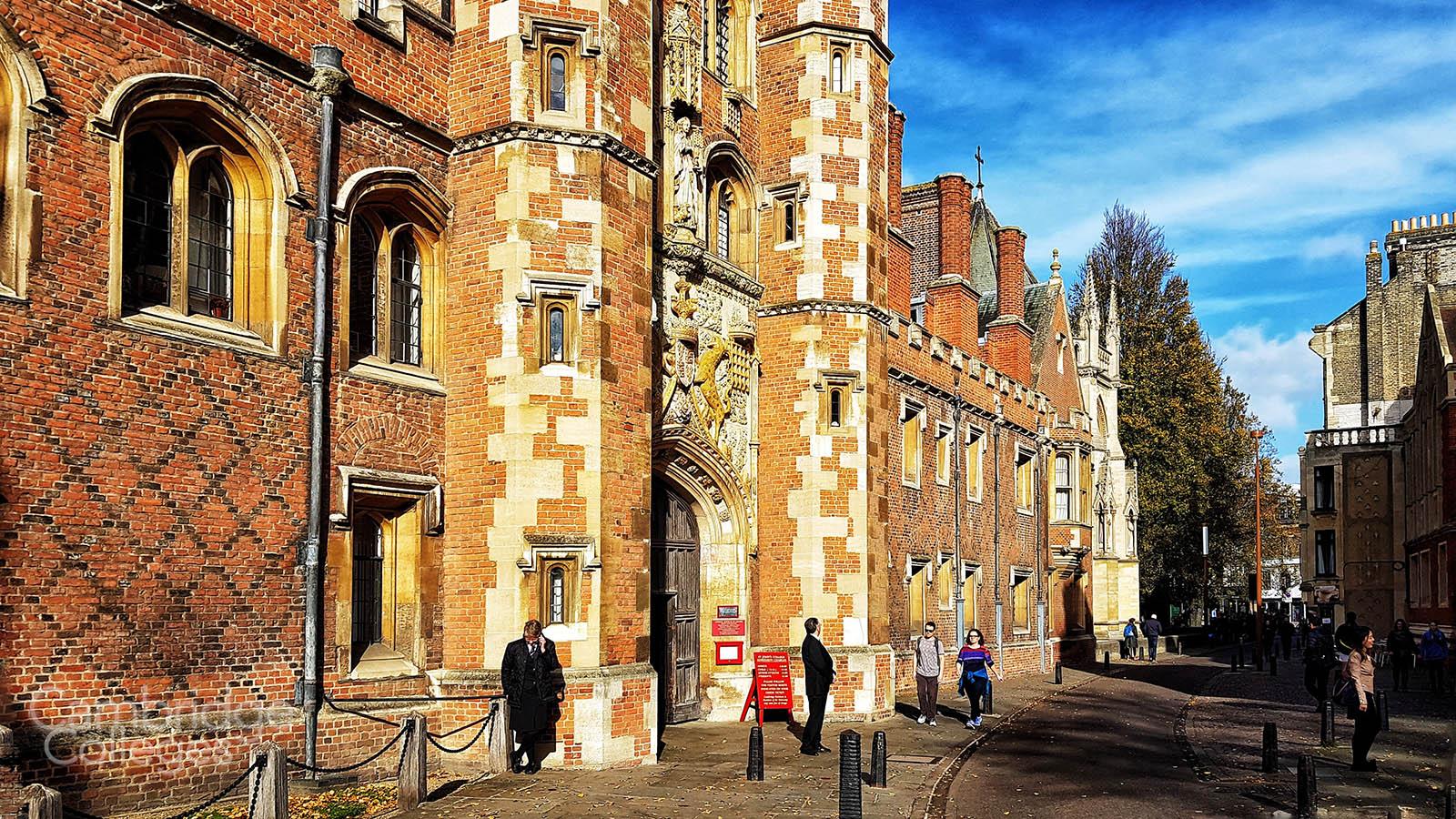 St John's great gate, seen from St John's street