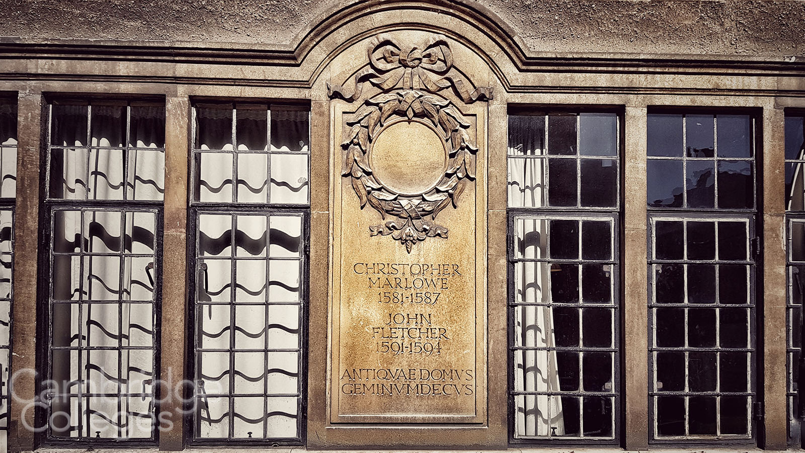 A plaque in Corpus Old Court commemorates both Christopher Marlowe and John Fletcher