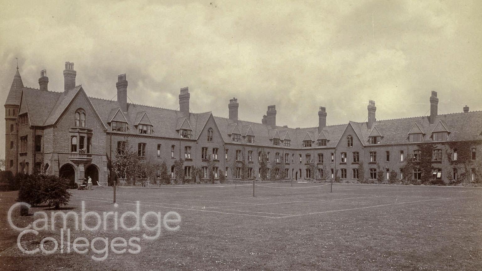 Girton College monochrome